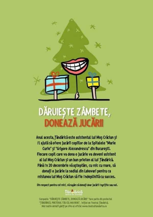 DĂRUIEŞTE ZÂMBETE, DONEAZĂ JUCĂRII