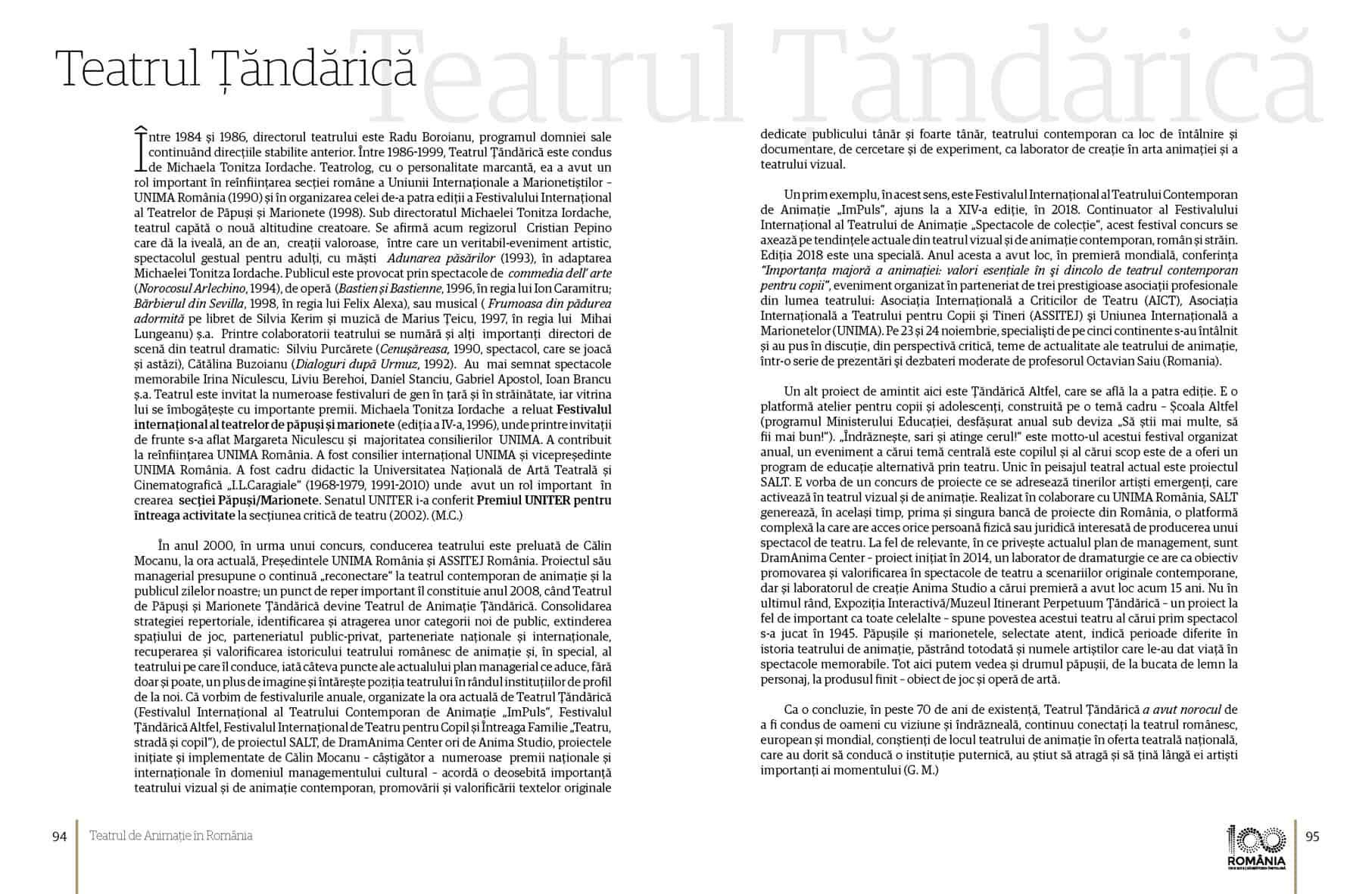 Album Teatrul de Animatie in Romania final preview fata in fata Page 48