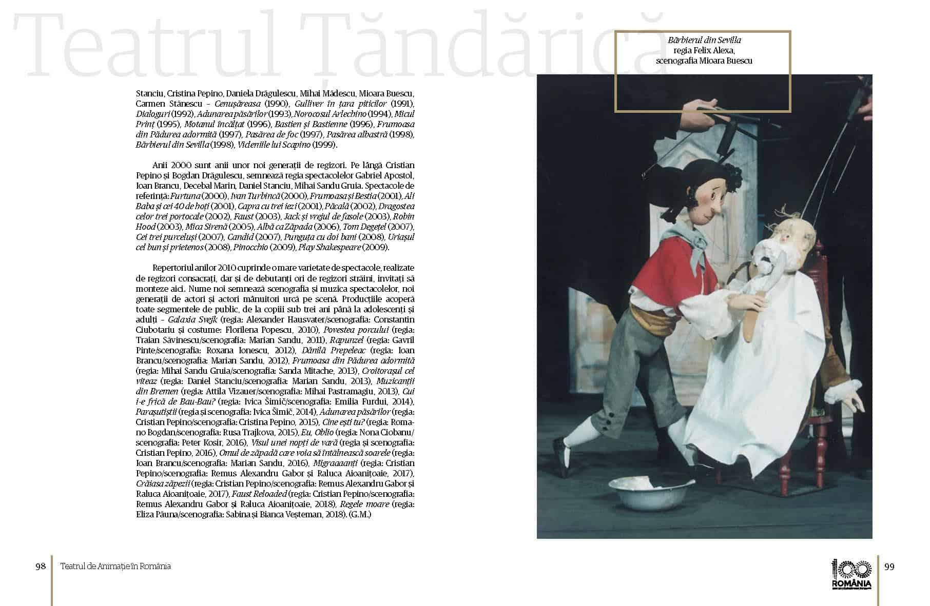 Album Teatrul de Animatie in Romania final preview fata in fata Page 50